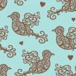 Birds pattern on blue — ストック写真 #30478057