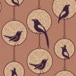 Birds pattern — Stock Photo