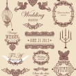 Stock Photo: Wedding vignette set