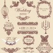 Wedding vignette set — Stock Photo
