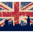 Great Britain's Flag and London — Stock Photo