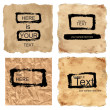 Vector grunge papers with draw frames — Stock Photo
