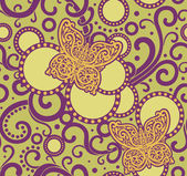 Wzór kwiecisty żółty motyl — Zdjęcie stockowe