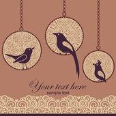 Birds card — Stock Photo