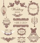 Wedding vignette set — Stock Photo