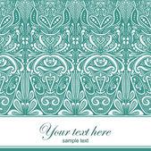 Ornamental card — Stock Photo