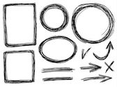 Vector sketch frames — Stock Photo