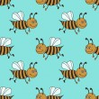 Bees pattern — Stock Photo