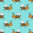 Bees pattern — Stock Photo #31034585