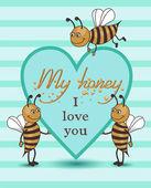 Bee love — Stock Photo