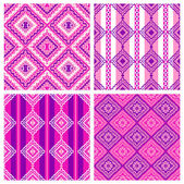 4 pattern set — Stock Photo