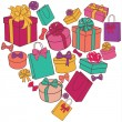 Heart of presents — Stock Vector #35415673