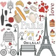 Paris set — Stock Vector
