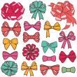 Vector de stock : Present bows
