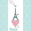 Paris card — Stock Vector