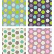 Stock Vector: Dots pattern set