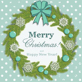 Christmas snowflake wreath — Stock Vector