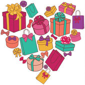 Heart of presents — Stock Vector