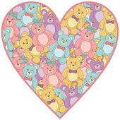 Teddy bear heart — Stock Vector