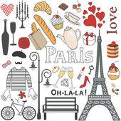 Paris set — Stock Vector