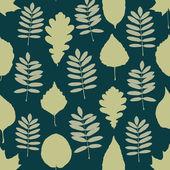 листья бесшовный фон — Cтоковый вектор