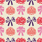 Pattern with bows — Vector de stock