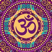Mandala ohm — Stok Vektör