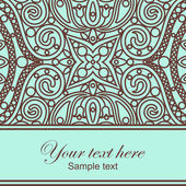 Orient lace card — Stock Vector