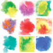 Watercolor set — Stock Vector