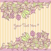 Floral kaart — Stockvector