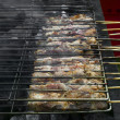 Royalty-Free Stock Photo: Greek pork souvlaki on grill
