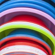 Plastic basins in many colors — Stock Photo #23510707