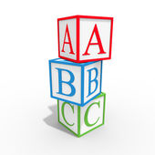 Abc do cubo — Fotografia Stock