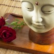 Foto de Stock  : Buddhwith rose
