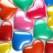 Stock Photo: Reflective Hearts
