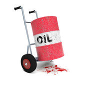 Oil cart blood — Stock Photo