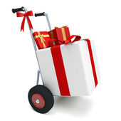 Cart gifts — Stock Photo