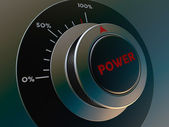 Knob power — Stock Photo