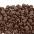 Royalty-Free Stock Photo: Chocolate chips bottom border isolated