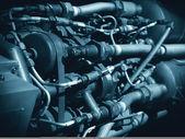 Jet engine hoses and machinery — Stock Photo