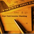 Stock Photo: High Yield Investor Checking