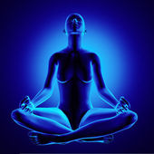 Yoga Woman Sitting Lotus Position Clipping Path Optional Backgro — Stock Photo