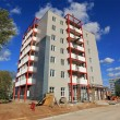 Stock Photo: Completion of construction of multi-storey new building.
