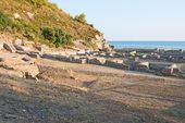 The remains of the Villa of Tiberio, Sperlonga — Stock Photo