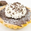 Stock Photo: Crostatincioccolate panna