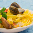 Fettuccine ai frutti di mare — Stock Photo