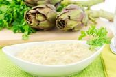 Risotto con i carciofi — Stock Photo