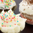Stock Photo: Cupcakes with buttercream