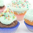 Cupcakes with buttercream - Stock Photo