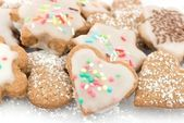 Cinnamon cookies frosted — Stock Photo